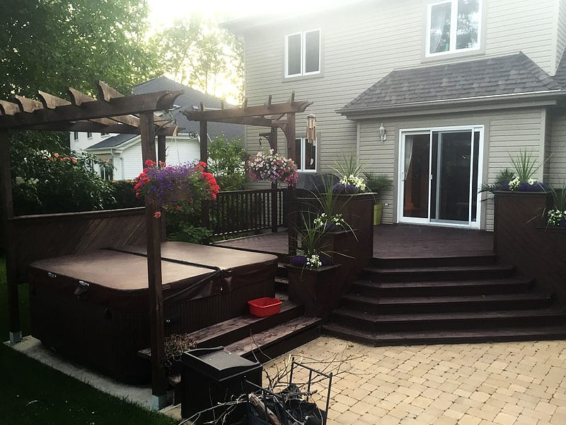 Habitations Trudeau Ile Perrot Vaudreuil Dorion Hudson West Island compagnie de construction terrasses patios